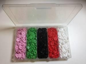 Bilde av Eske knapper 5 farger